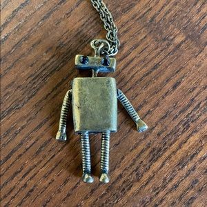 Robot pendant fashion necklace